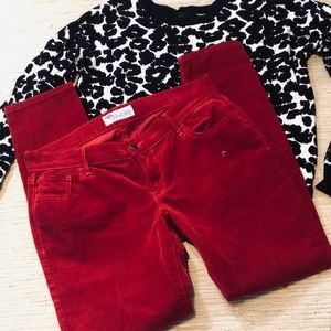 OLD NAVY RED CORDUROY PANTS